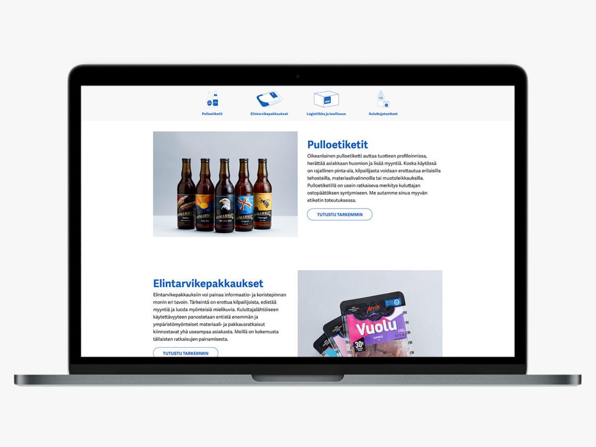 Nordic Label desktopnäkymä