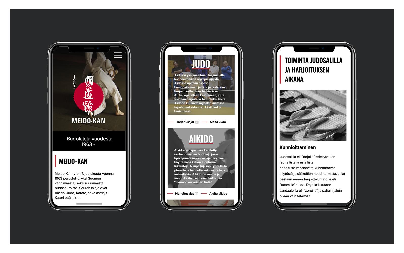 Meido-kan iphone näkymiä
