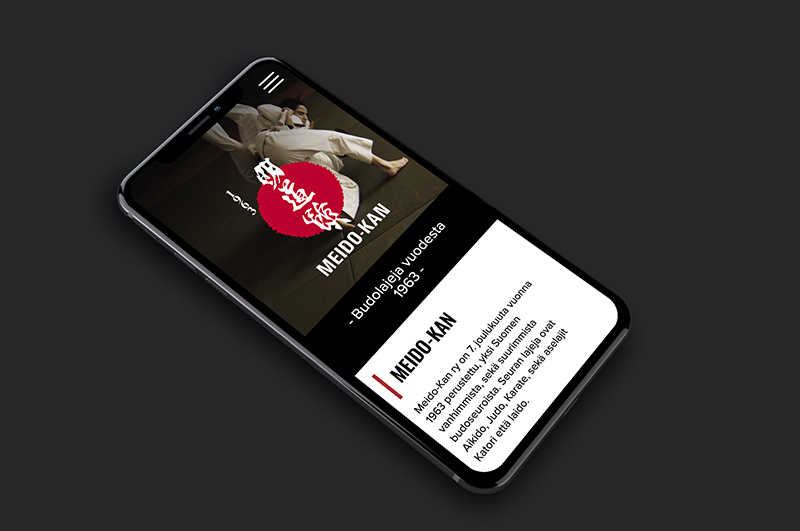 Meido-kan etusivu iphone näytöllä